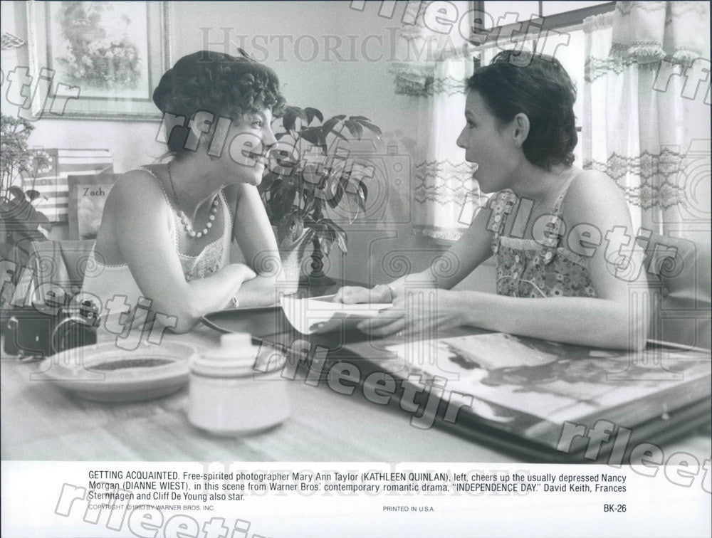 1983 Oscar Winning Actor Dianne Wiest & Kathleen Quinlan Press Photo adu459 - Historic Images