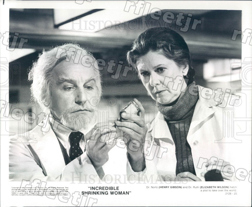 1980 Actors Henry Gibson & Tony Winner Elizabeth Wilson Press Photo adu465 - Historic Images