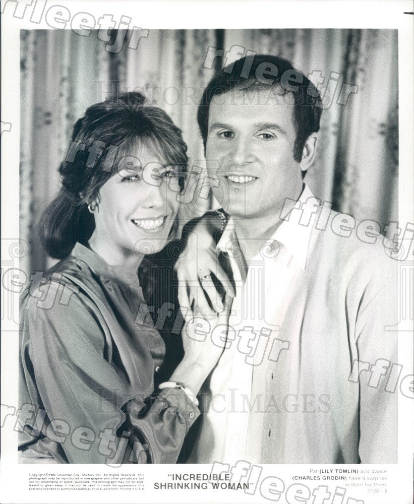 1980 Actors Charles Grodin & Emmy Winner Lily Tomlin Press Photo adu467 - Historic Images