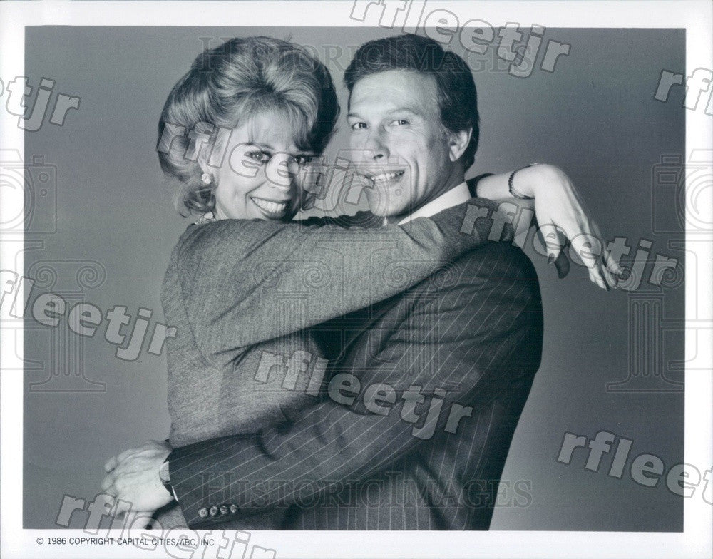 1986 Actors Leslie Easterbrook & Michael Levin on Ryan's Hope Press Photo adu475 - Historic Images