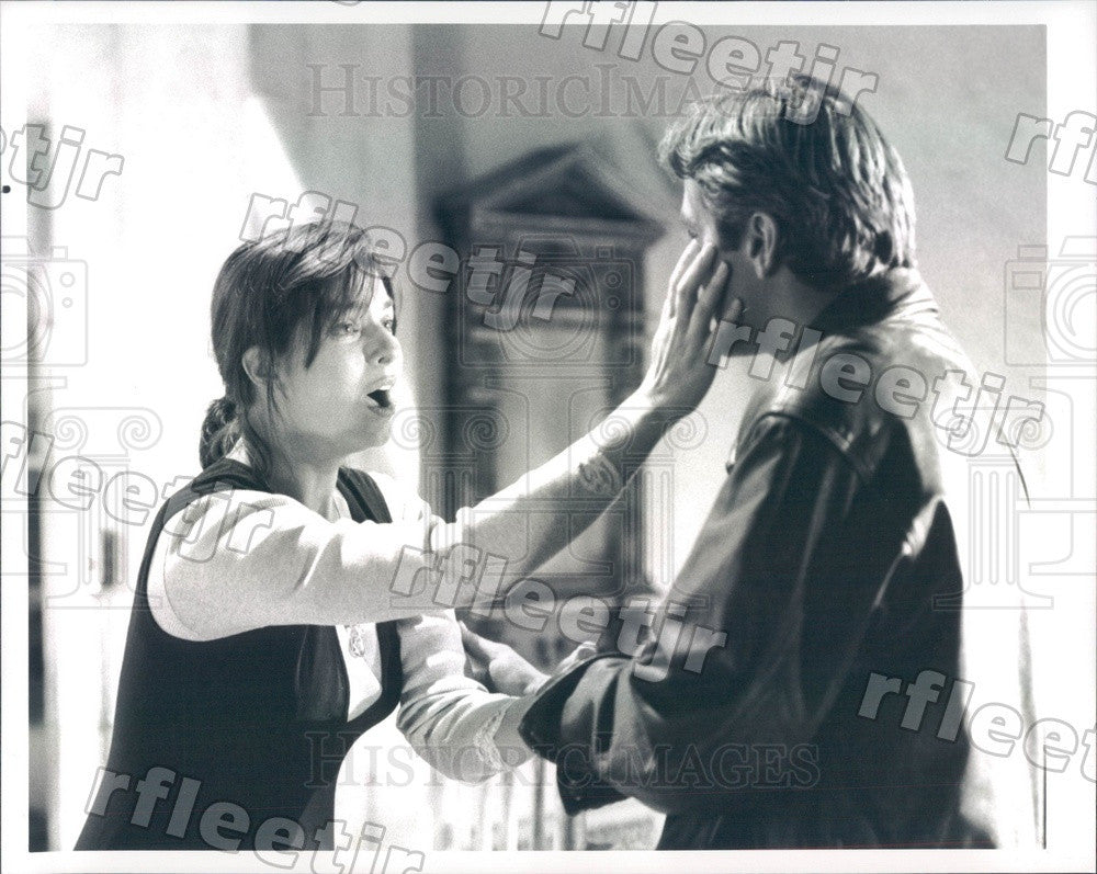 Undated Award Winning Actors George Clooney & Sela Ward Press Photo adu495 - Historic Images