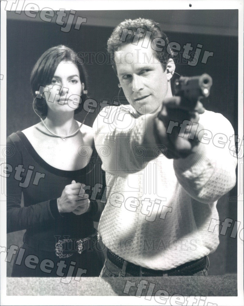 Undated Actors Gregory Harrison & Emmy Winner Sela Ward Press Photo adu497 - Historic Images