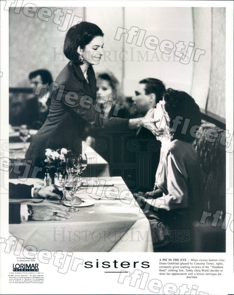 1992 Emmy Winning Actor Sela Ward & Concetta Tomei Press Photo adu509 - Historic Images