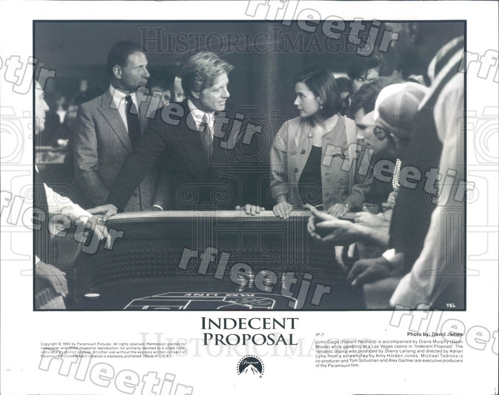 1993 Oscar Winning Actor Robert Redford & Demi Moore in Film Press Photo adu535 - Historic Images