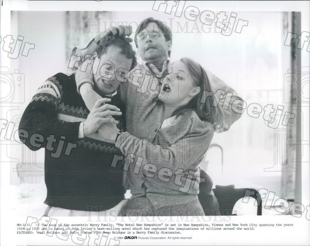 1984 Actors Paul McCrane, Jodie Foster, Beau Bridges in Film Press Photo adu547 - Historic Images