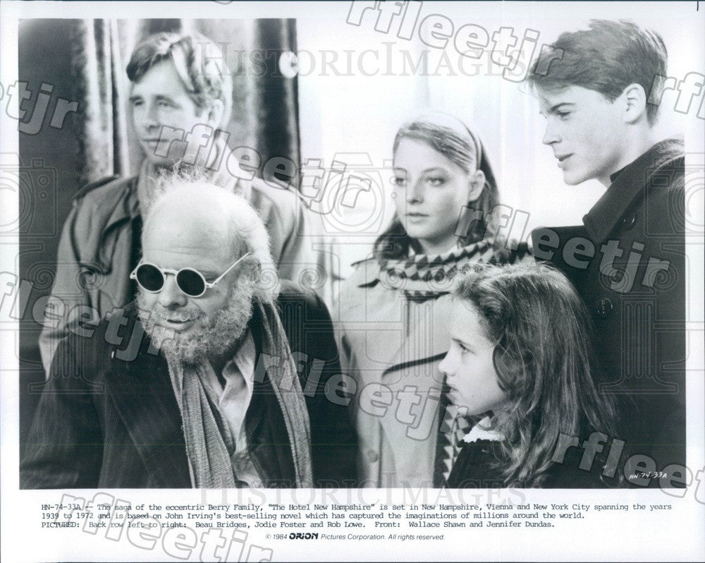 1984 Actors Jodie Foster, Beau Bridges, Rob Lowe Press Photo adu549 - Historic Images