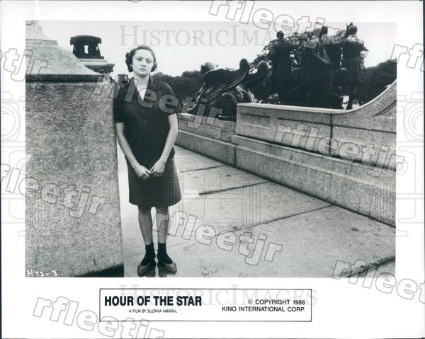 1986 Brazilian Actress Marcelia Cartaxo in Hour Of The Star Press Photo adu551 - Historic Images