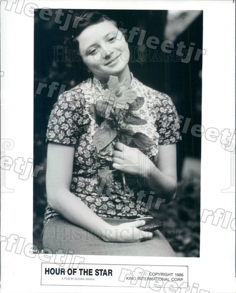 1986 Brazilian Actress Marcelia Cartaxo in Hour Of The Star Press Photo adu553 - Historic Images