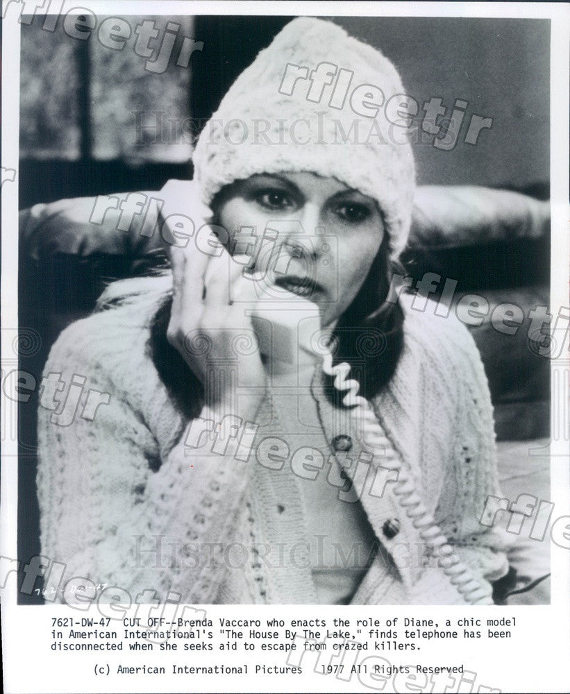 1977 Actress Brenda Vaccaro in Film The House By The Lake Press Photo adu557 - Historic Images