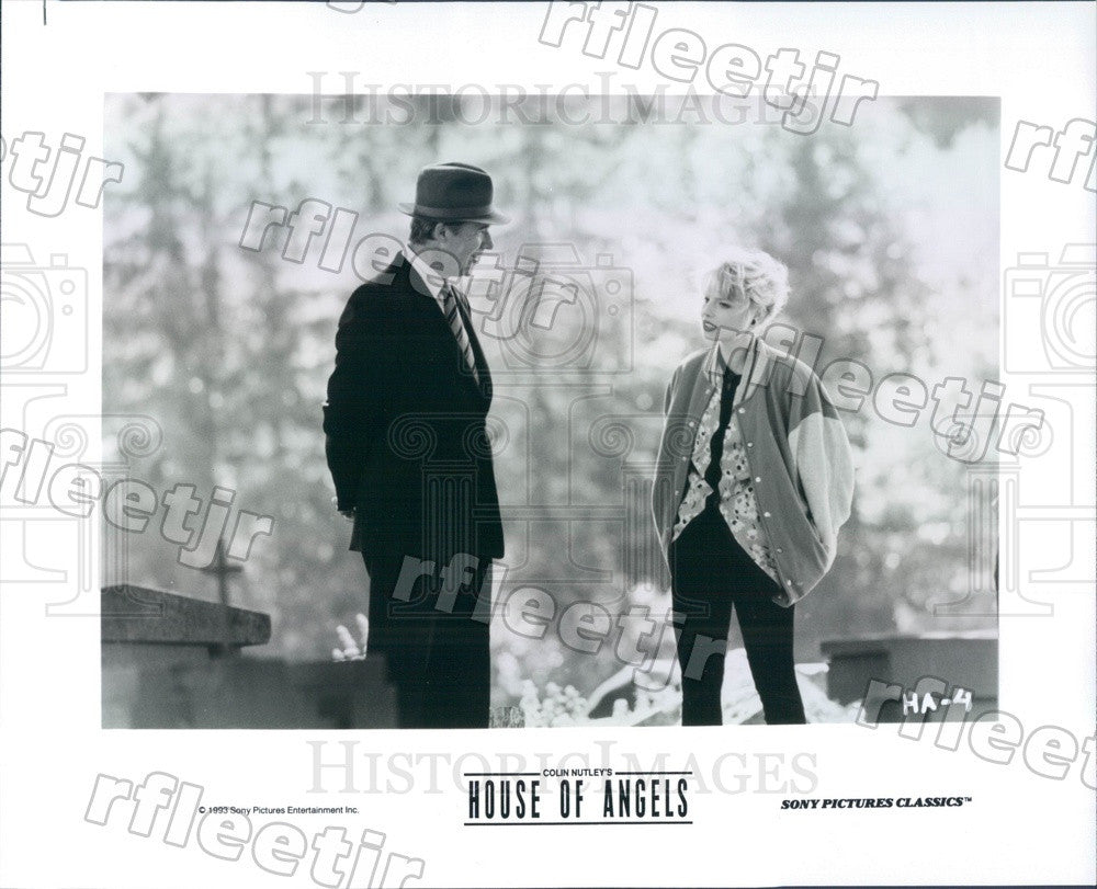 1993 Swedish Actors Helena Bergstrom & Sven Wollter in Film Press Photo adu567 - Historic Images