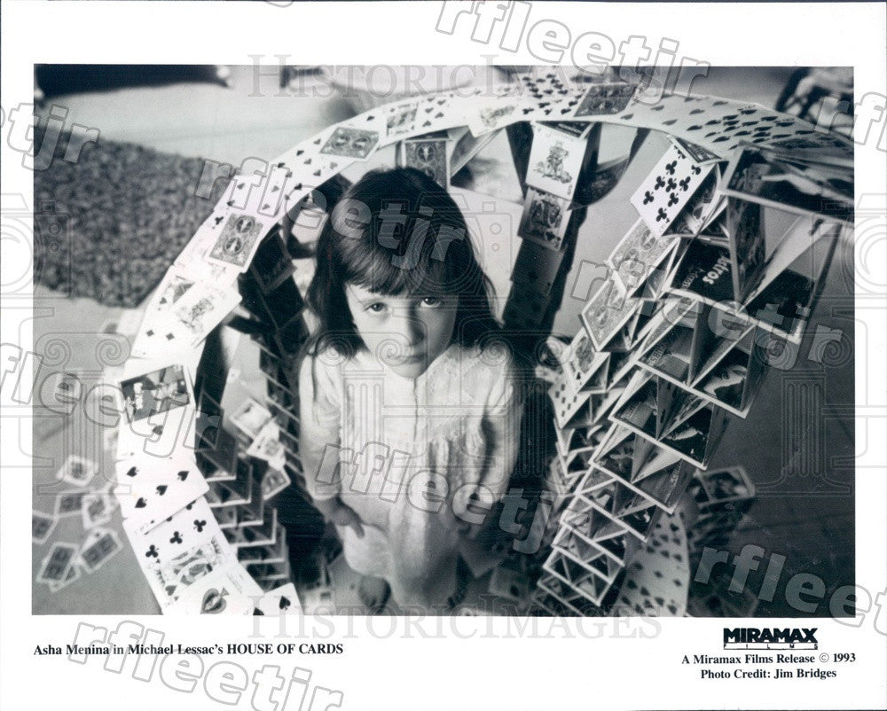 1993 Actress Asha Menina in Film House of Cards Press Photo adu569 - Historic Images