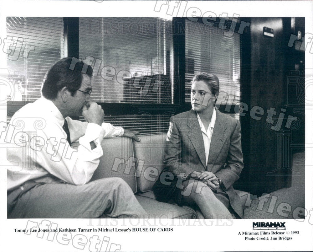 1993 Oscar Winning Actor Tommy Lee Jones & Kathleen Turner Press Photo adu571 - Historic Images