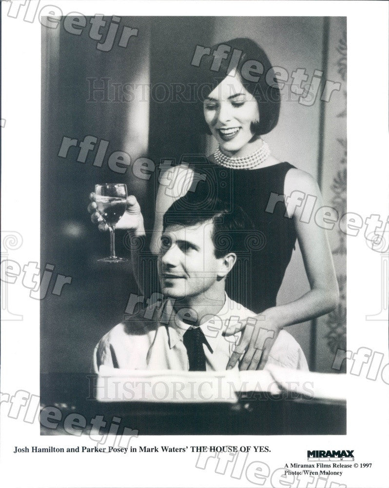 1997 Actors Josh Hamilton & Parker Posey in Film House of Yes Press Photo adu577 - Historic Images