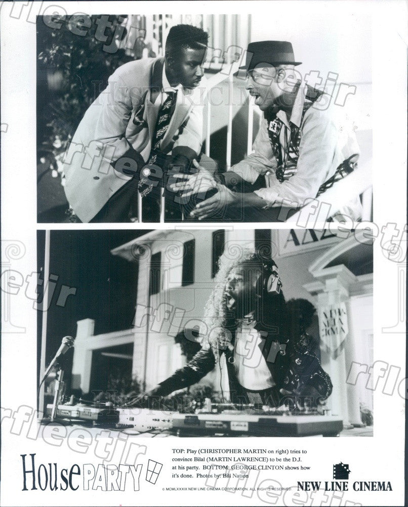 1989 Actors Christopher Martin, Martin Lawrence Press Photo adu597 - Historic Images