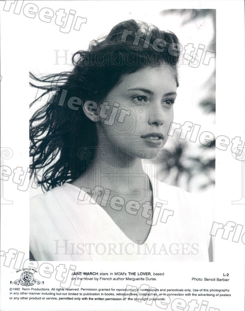 1992 British Actress Jane March in Film The Lover Press Photo adu7 - Historic Images