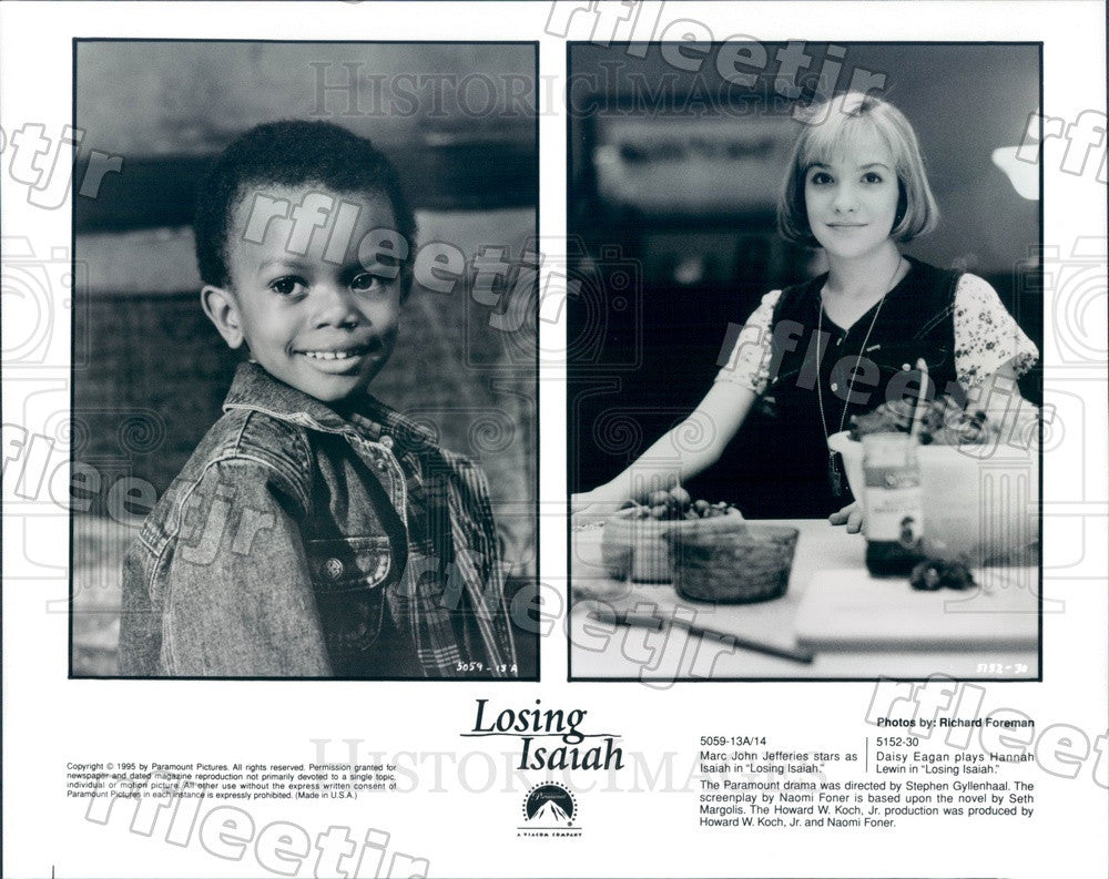 1995 Tony Winning Actor Daisy Eagan & Mark John Jefferies Press Photo adu81 - Historic Images