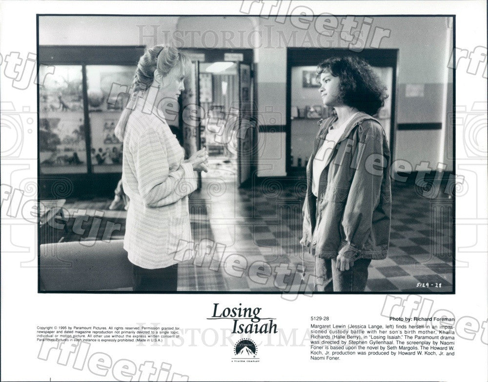 1995 Oscar Winning Actors Jessica Lange & Halle Berry Press Photo adu83 - Historic Images