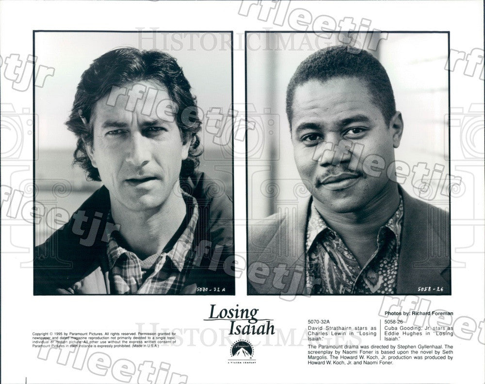 1995 Oscar Winning Actor Cuba Gooding Jr & David Strathairn Press Photo adu85 - Historic Images