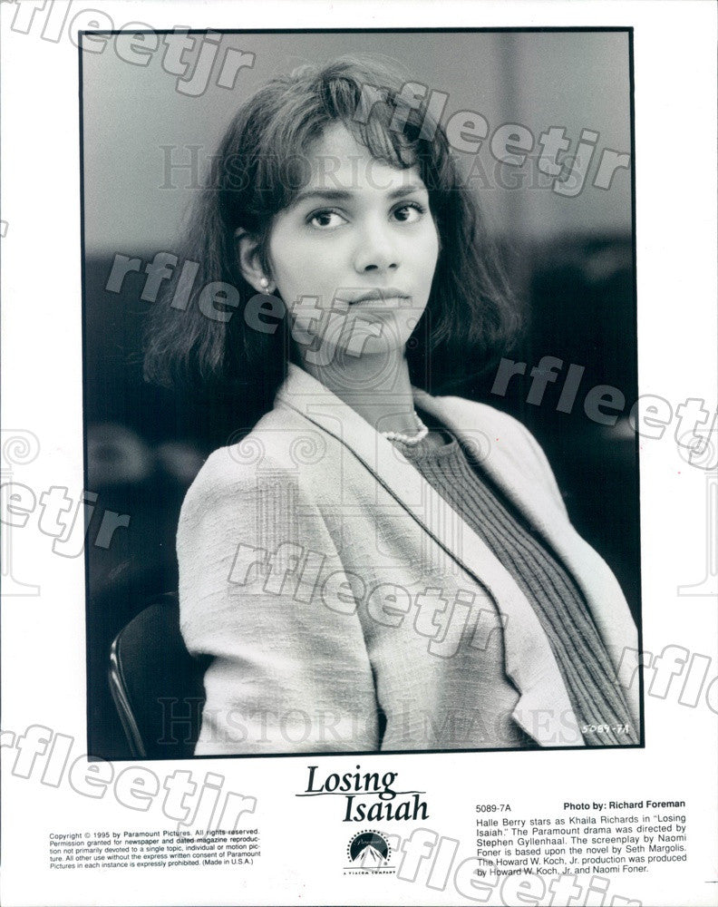 1995 Oscar, Emmy Winning Actress Halle Berry in Losing Isaiah Press Photo adu87 - Historic Images