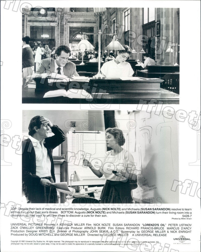 1992 Oscar Winning Actor Susan Sarandon & Nick Nolte Press Photo adu95 - Historic Images