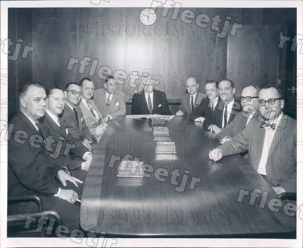 1958 Chicago Sun-Times VP Laurence Knott Press Photo adv101 - Historic Images