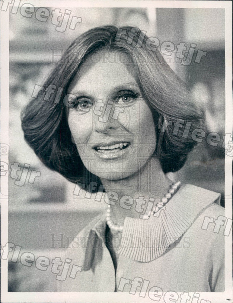 1977 Oscar, Emmy Winning Actress Cloris Leachman Press Photo adv109 - Historic Images