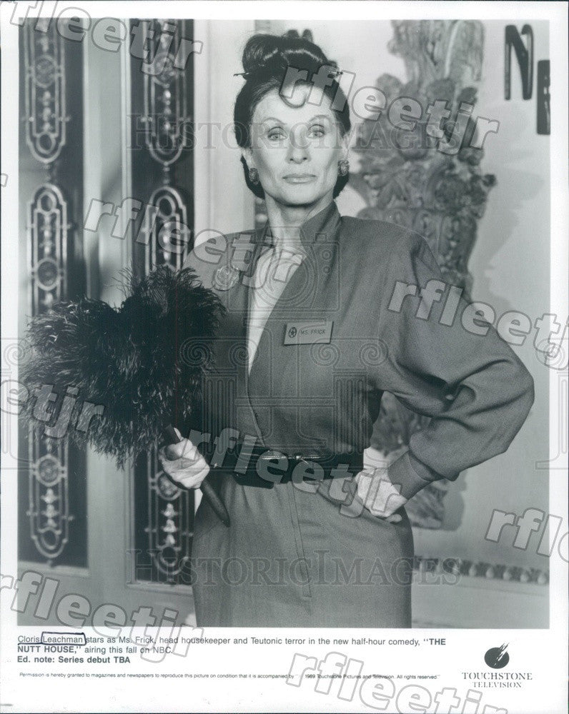 1989 Oscar, Emmy Winning Actress Cloris Leachman Press Photo adv113 - Historic Images