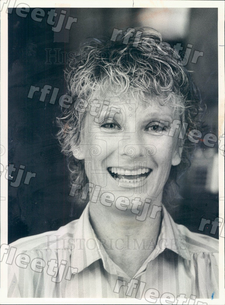 1981 Oscar, Emmy Winning Actress Cloris Leachman Press Photo adv115 - Historic Images
