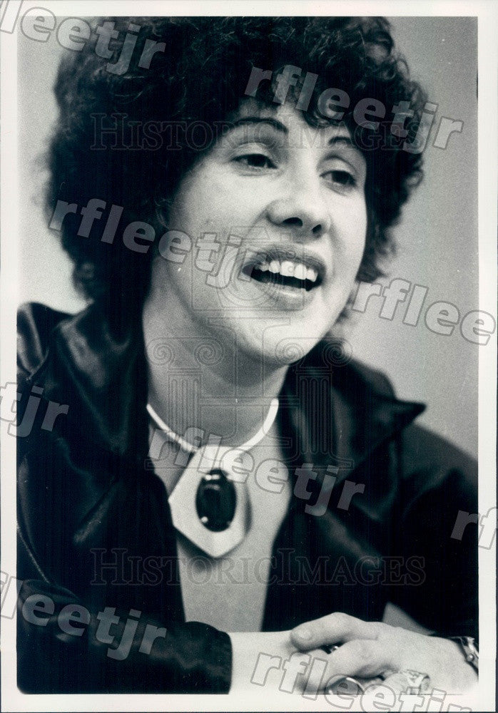 1979 Feminist Author, Psychotherapist Phyllis Chesler Press Photo adv13 - Historic Images