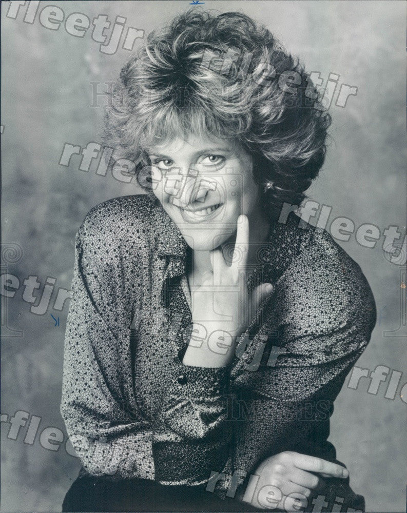 1987 Comedian, Actor, Writer Carol Leifer Press Photo adv133 - Historic Images