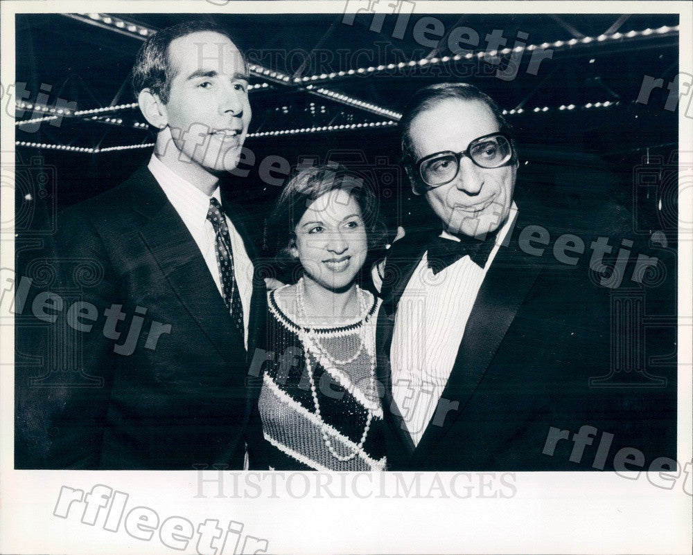 1984 Chicago TV Host Mike Leiderman, Irv Kupcinet, Sun-Times Press Photo adv137 - Historic Images