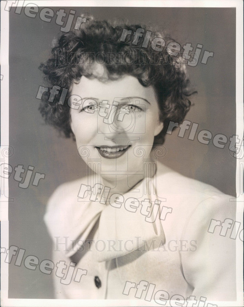 1944 Comedic Actress Lillian Leigh Press Photo adv141 - Historic Images