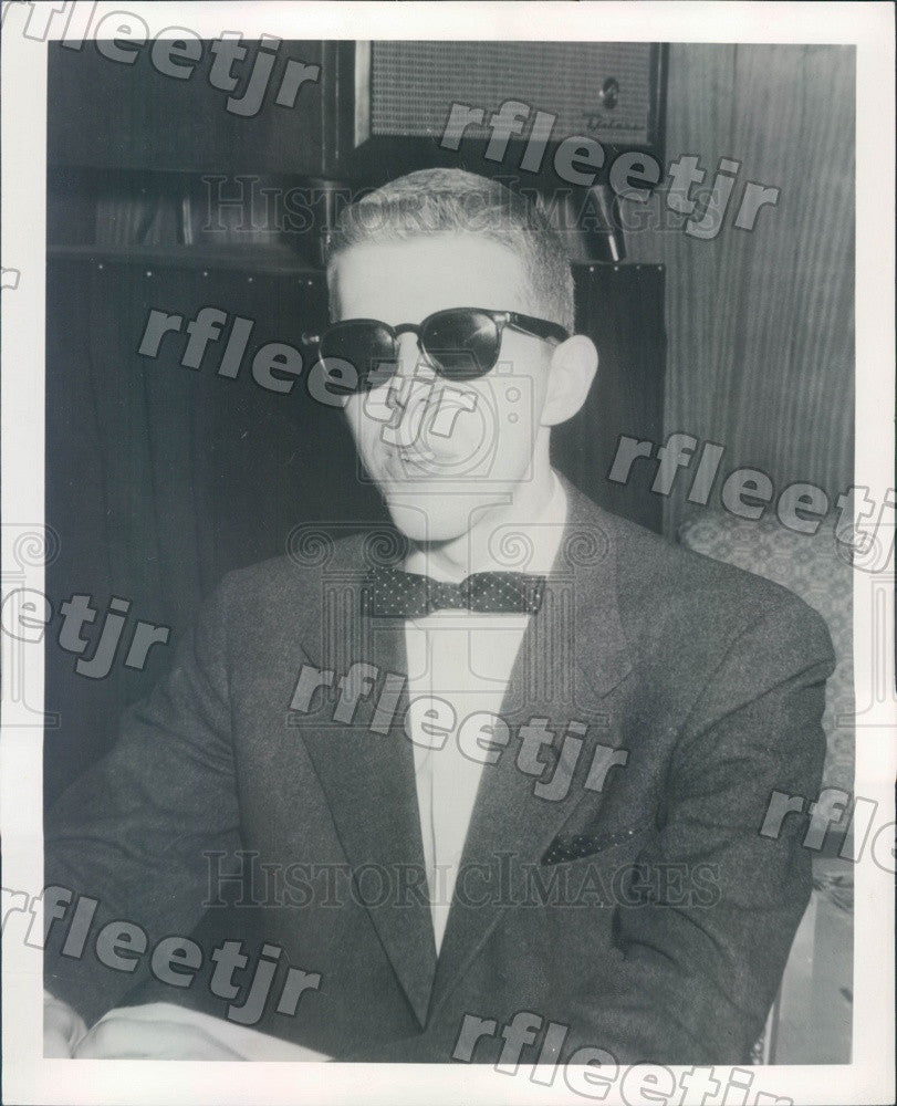 1956 Singing Pianist Ted Leighton Press Photo adv155 - Historic Images