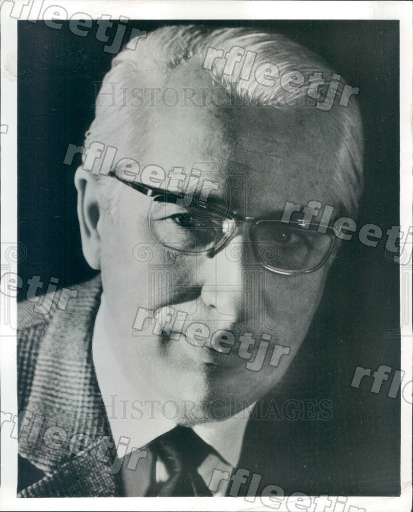 1971 German Conductor Ferdinand Leitner Press Photo adv161 - Historic Images