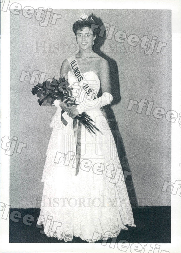 1986 Miss Illinois US Teen Sheri Kay Lombardi Press Photo adv169 - Historic Images