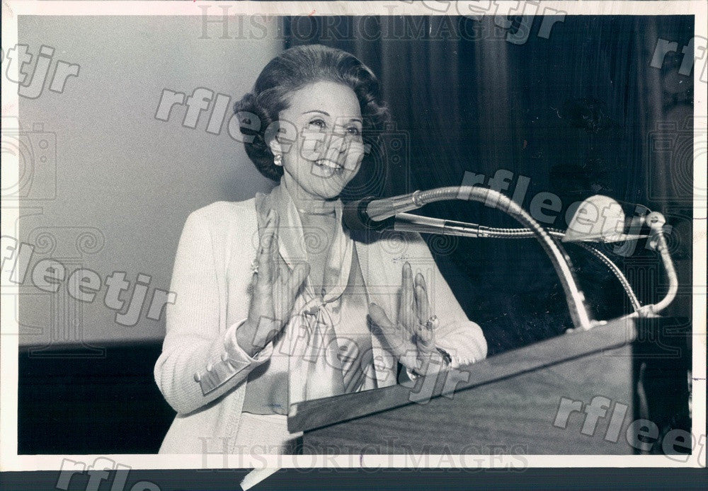 1980 Advice Columnist Ann Landers Press Photo adv183 - Historic Images