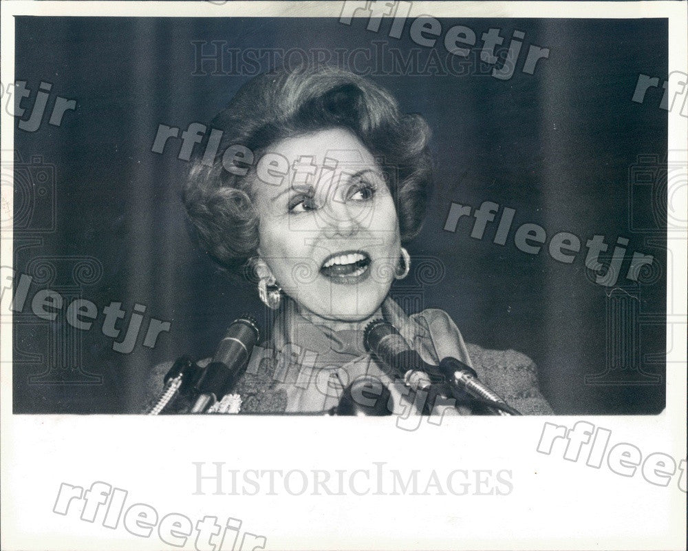1984 Advice Columnist Ann Landers Press Photo adv193 - Historic Images