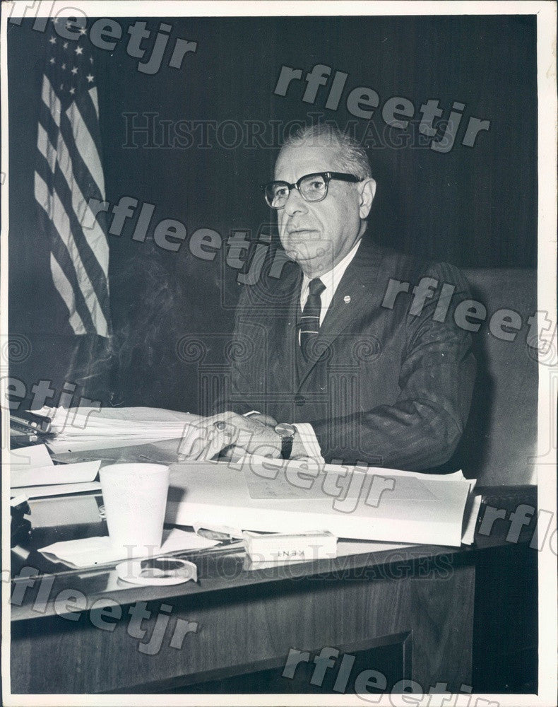 1966 Chicago, IL Frank Chesrow, Sanitary District President Press Photo adv23 - Historic Images