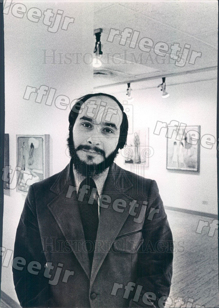 1973 Chicago, Illinois Artist Michael Wyman Press Photo adv261 - Historic Images