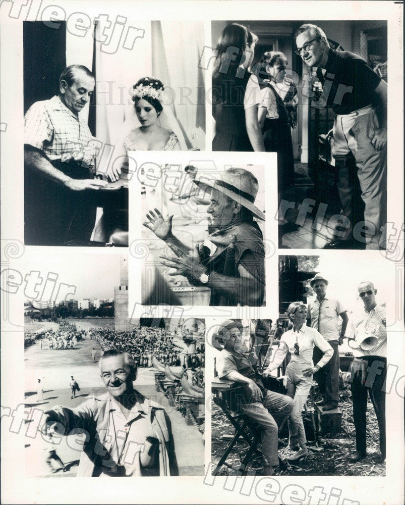 1976 Oscar Winning Director William Wyler Filming Ben-Hur Press Photo adv271 - Historic Images