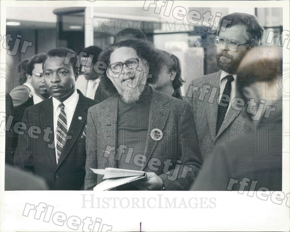 1985 South African Poet, Activist Dennis Brutus Press Photo adv281 - Historic Images