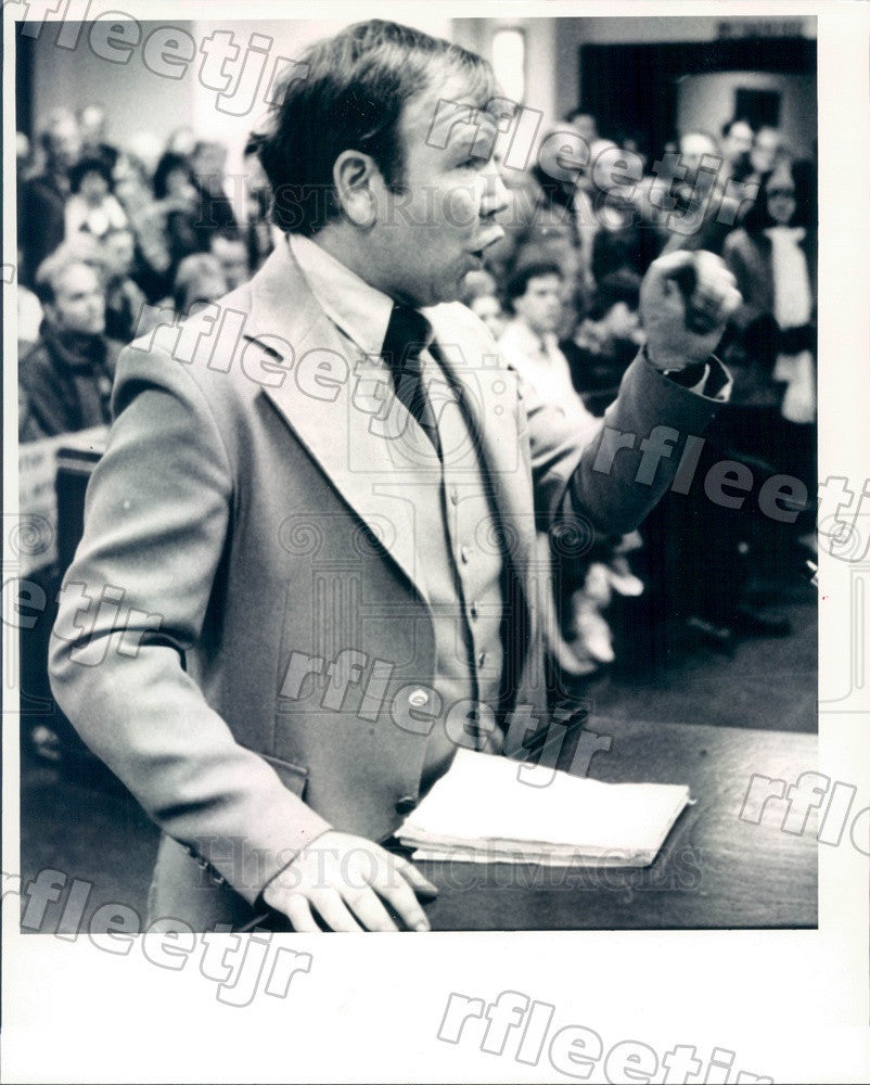 1985 Cicero, Illinois Can-Do Organization Leader David Boyle Press Photo adv297 - Historic Images