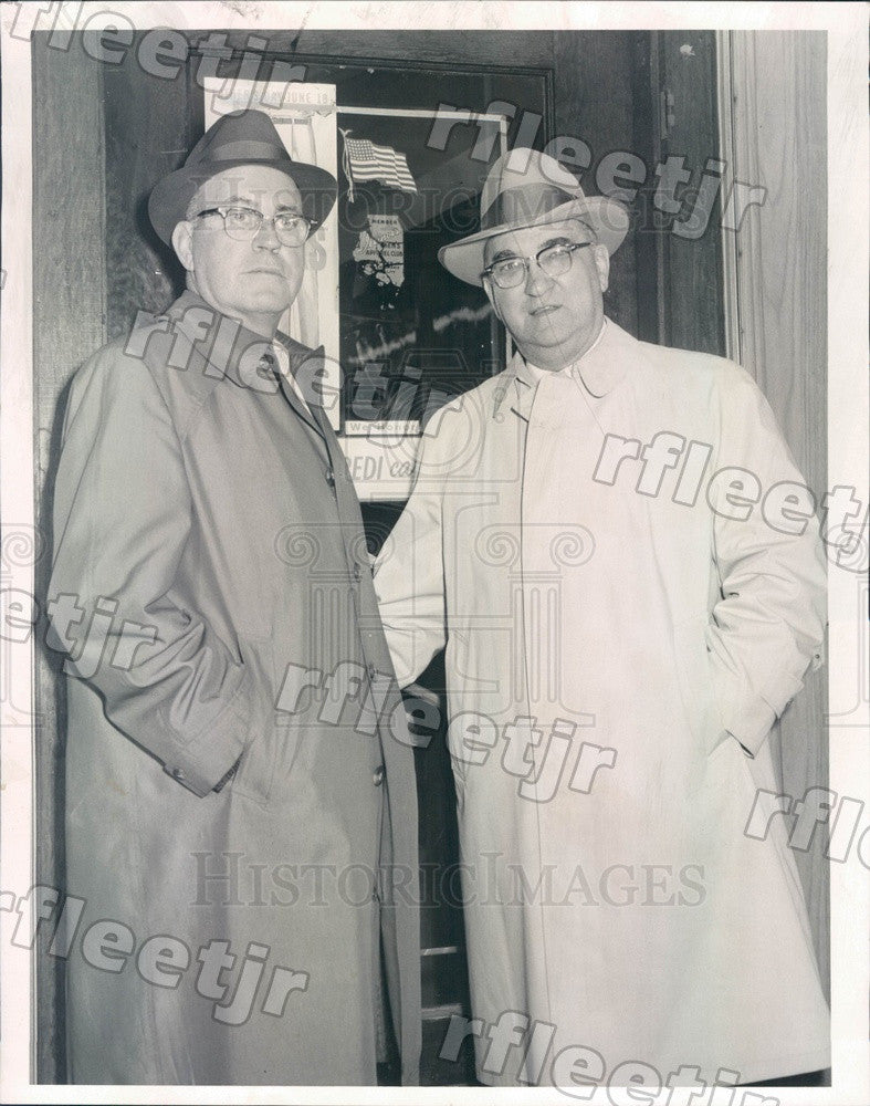 1960 Chicago, Illinois Blue Island Police Chief Edward Boyd Press Photo adv305 - Historic Images