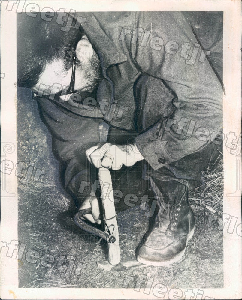 1960 Chicago, IL Bud Boyd, Wilderness Experiment Subject Press Photo adv313 - Historic Images