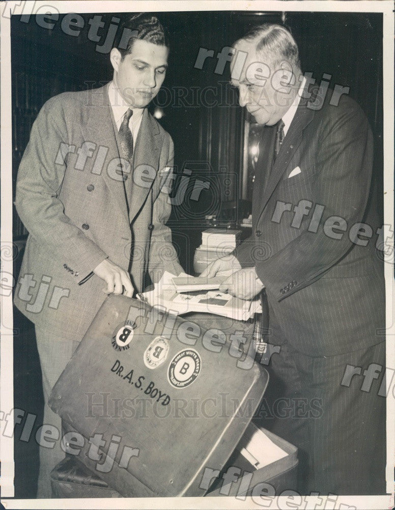 1939 Panama Acting President, Augusto Samuel Boyd & Son Press Photo adv315 - Historic Images
