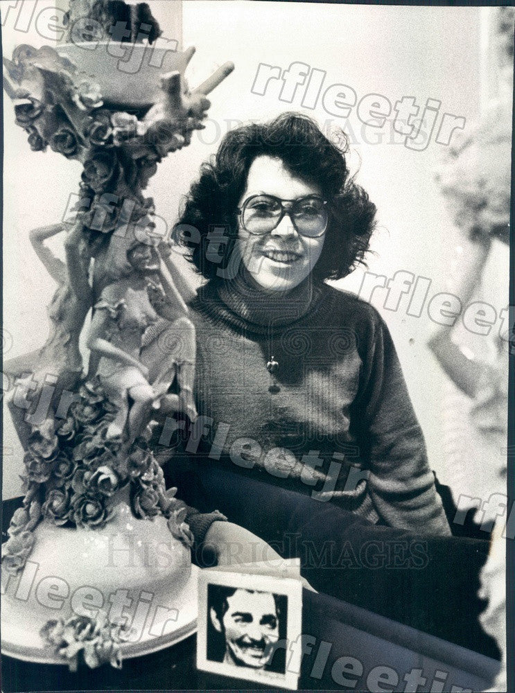 1978 Chicago, Illinois Sculptor Geraldine Boruta Press Photo adv335 - Historic Images