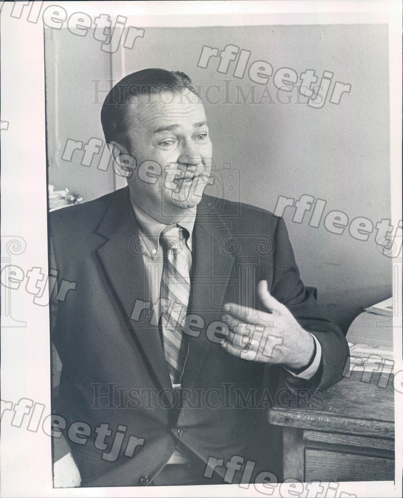 1970 Chicago, IL United Auto Workers President Julius Borzyk Press Photo adv337 - Historic Images