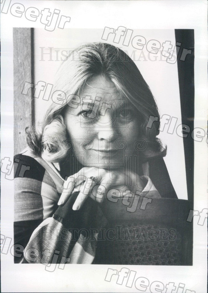 1976 Broadway & TV Actress Anne Edwards Press Photo adv353 - Historic Images