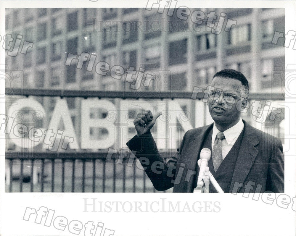 1991 Libertarian Presidential Candidate Richard Boddie Press Photo adv387 - Historic Images
