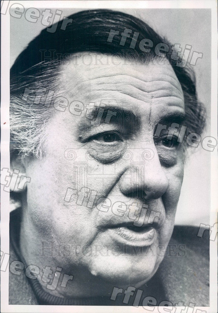 1972 French Journalist & Author Lucien Bodard Press Photo adv391 - Historic Images